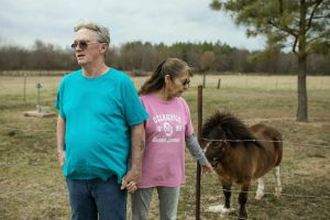 Oklahoma couple with miniature horse