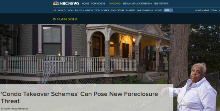 NBC News Condo Takeover Schemes featuring Marilyn Mack