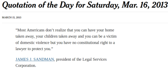 NYT James Sandman quote of the day, 3/15/13